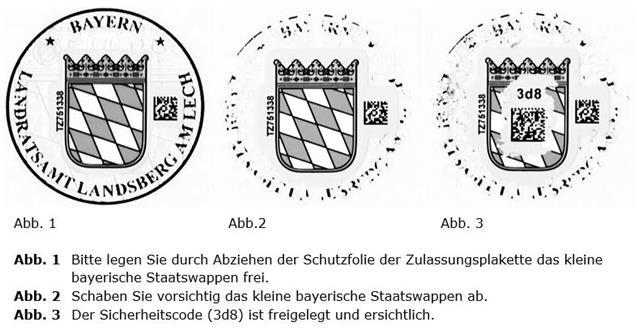 zulassung - ikfz - Plakette Siegel