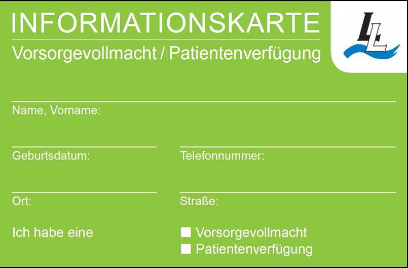 Betreuungsstelle - Informationskarte