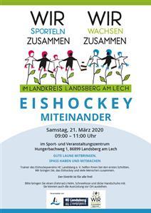 Inklusion: Poster Eishockey miteinander
