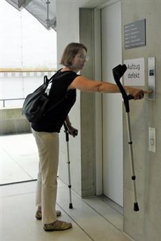 Fotoausstellung: Aufzug defekt